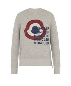 Moncler | Logo-Print Cotton-Blend Fleece Sweatshirt