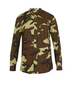 Givenchy | Cuban-Fit Camouflage-Print Cotton-Poplin Shirt