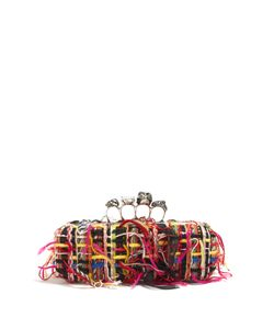 Alexander McQueen | Tweed Knuckle Clutch