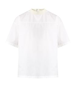 Wooyoungmi | High-Neck Cotton-Poplin Top