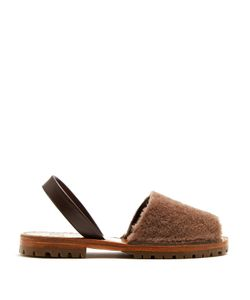 Goya | Shearling Slingback Sandals
