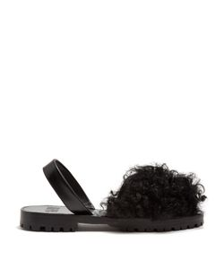 Goya | Shearling And Leather Sandals