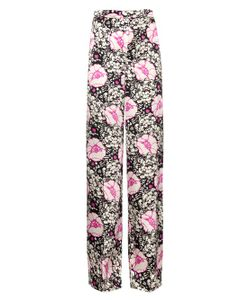 DORU OLOWU | Zanzibar Flower-Print Silk Trousers
