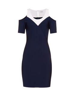 Mugler | Bi-Colour Stretch-Crepe Dress