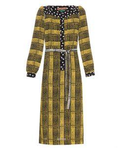 DORU OLOWU | Harlem Deco-Print Crepe Dress