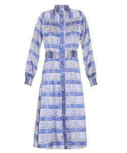 DORU OLOWU | Harlem Deco-Print Silk Dress