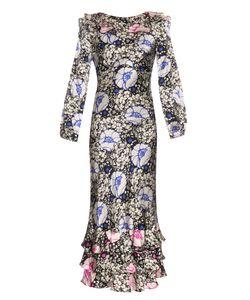DORU OLOWU | Zanzibar Flower-Print Silk-Satin Dress