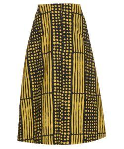 DORU OLOWU | Harlem Deco-Print Cloqué Skirt