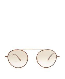 GARRETT LEIGHT   Zeno Round-Frame Sunglasses