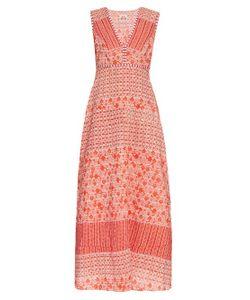 LE SIRENUSE, POSITANO | Astrid Morocco-Print Cotton-Voile Maxi Dress