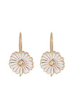 ALISON LOU | Sapphire Enamel Yellow-Gold Daisy Earrings