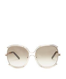 Chloe | Modified Square-Frame Sunglasses