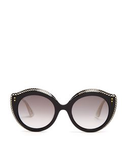Gucci | Embellished Cat-Eye Acetate Sunglasses