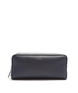 Smythson | Burlington Large Grained-Leather Washbag