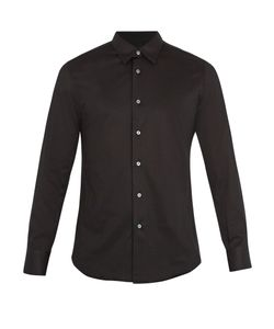 Brioni | Long-Sleeved Cotton-Jersey Shirt