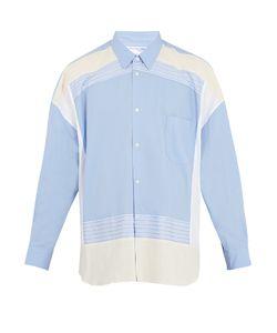 Comme Des Garcons | Oversized Contrast-Panel Cotton Shirt