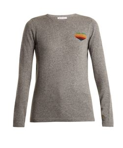 Bella Freud | Disco Heart Cashmere-Blend Sweater