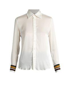 WALES BONNER | Caribe Crochet-Trimmed Silk-Blend Shirt