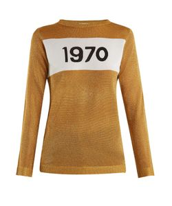 Bella Freud | 1970 Round-Neck Intarsia-Knit Sweater