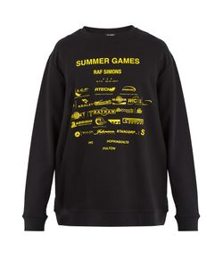 Raf Simons | Summer Games-Print Cotton Sweatshirt