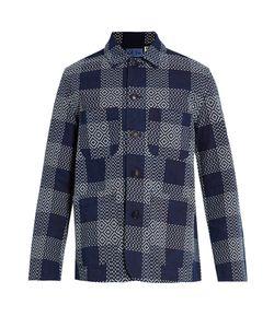 Blue Blue Japan | Embroide-Check Cotton Blazer