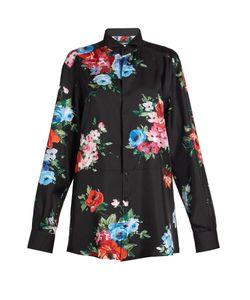 Dolce & Gabbana   -Print Silk-Blend Shirt