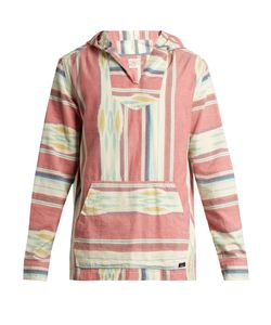 Faherty | Baja Striped Cotton Hooded Poncho