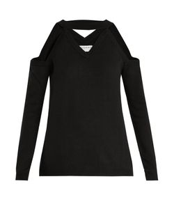 OSMAN | Emmeline Cut-Out Shoulder Wool Sweater