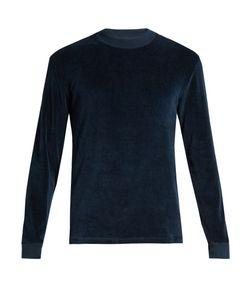 Fanmail | Contrast-Rib Velour Sweatshirt