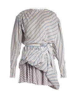 Balenciaga | Uplifted Striped And Star-Jacquard Mini Dress