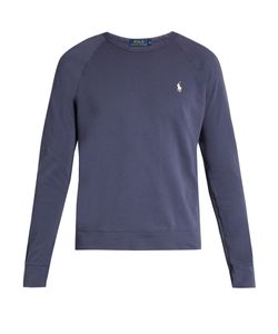 Polo Ralph Lauren   Logo-Embroidered Cotton-Jersey Sweatshirt