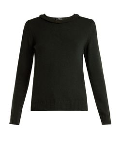 A.P.C. | Ruffle-Detail Wool Knit Sweater