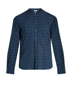 Boglioli | Band-Collar Checked Cotton Shirt