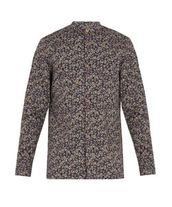 Paul Smith | -Print Granddad-Collar Cotton Shirt