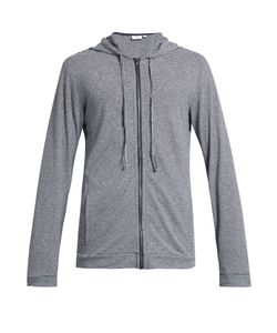 Onia | James Striped Zip-Through Hooded Sweatshirt