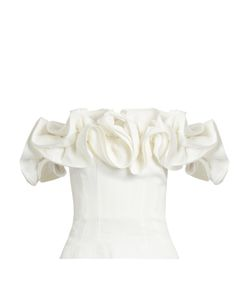 BROCK COLLECTION | Theresa Off-The-Shoulder Ruffled Linen Top