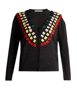 Marco De Vincenzo | Bow-Embellished Wool Cardigan