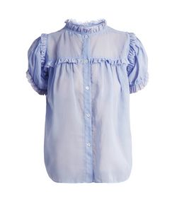 Jupe By Jackie | Lemon Drop Dot-Embroidered Cotton-Organdy Top