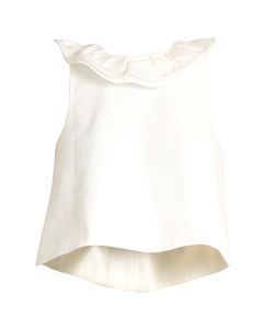 Tibi | Agathe Ruffled-Neck Top