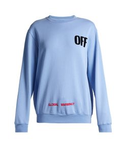 OFF-WHITE | Round-Neck Logo-Print Cotton Sweatshirt