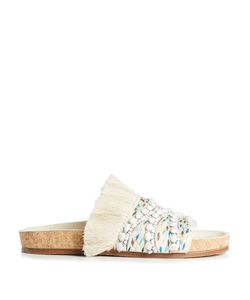 Chloe | Nolan Embroidered And Fringed Slides