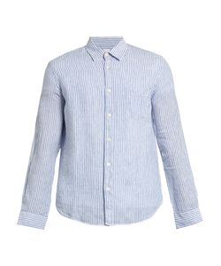 120% Lino | Striped Linen Long-Sleeved Shirt