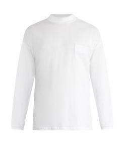 MARTINE ROSE | Funnel-Neck Cotton-Jersey T-Shirt