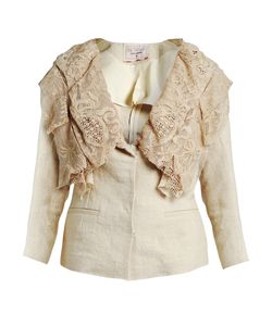 BY WALID | Renuca 19th-Century Lace-Collar Linen Jacket