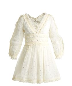 Zimmermann | Winsome Embroide Cotton-Organdy Dress