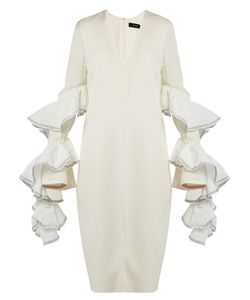Ellery | Molotov Ruffled-Sleeve Crepe Dress