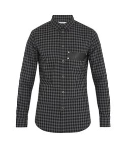 Givenchy | Checked Cotton-Flannel Shirt