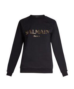 Balmain   Logo-Print Jersey Sweatshirt