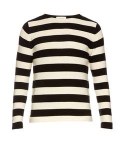 Gucci | Striped Cotton Crew-Neck Sweater