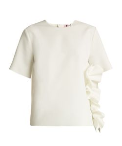 MSGM | Ruffled Stretch-Crepe Top